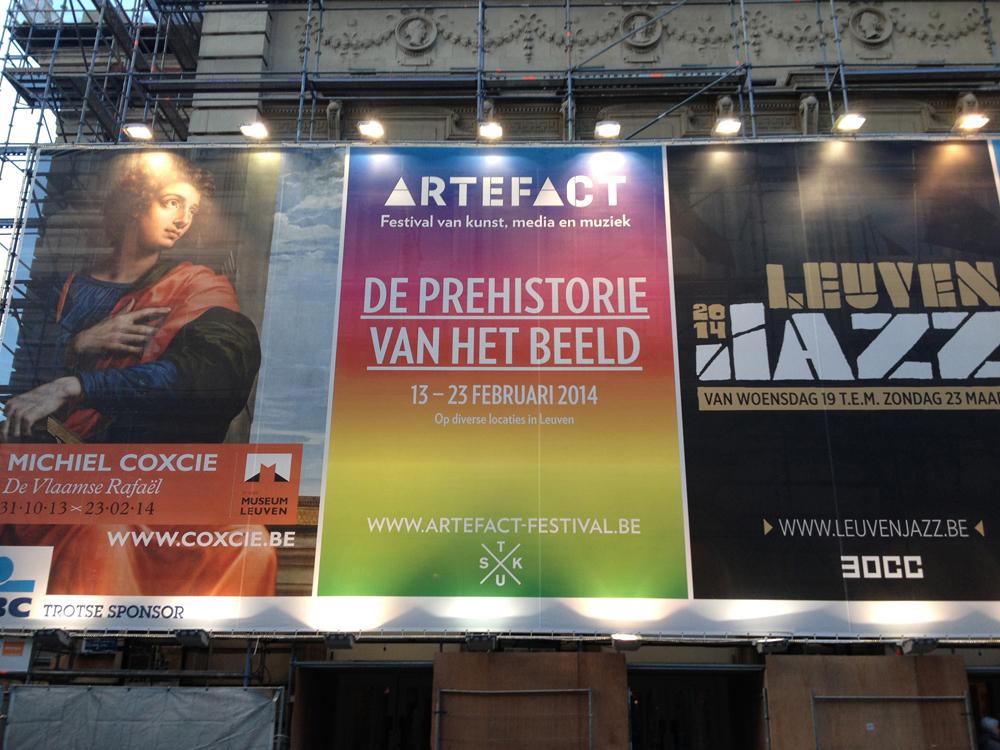 Signage, Artefact Festival, De Prehistorie van het Beeld (Prehistory of the Image), Leuven, Belgium.